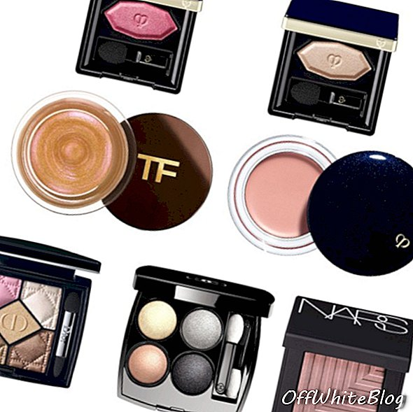 Cle de Peau Beaute poederoogkleur solo in 202, $ 60 'Cle de Peau Beaute poederoogkleur solo in 204, $ 60; Tom Ford Cream Color for Eyes, $ 68; Cle de Peau Beaute Cream Eye Color Solo in 302, $ 60; Dior 5 Couleurs in 726 Pink Breeze, $ 102; Chanel Les 4 ombres in Tisse Ombre De Lune, $ 90; Nars Kari Dual-Intensity Eyeshadow in Soft Rose Pink, $ 44.