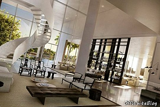 Villa elutuba The Ritz Carlton Residences, Miami