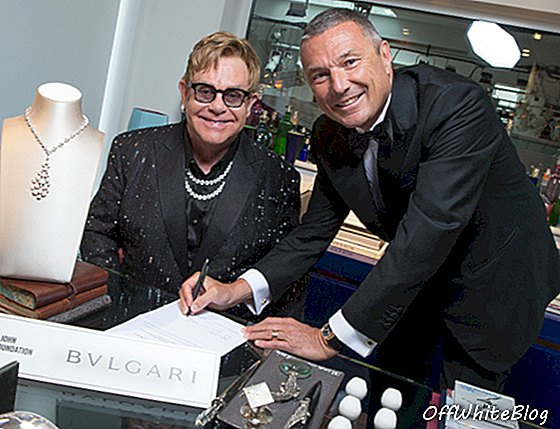 Bulgari Partners Elton John Aids Foundation