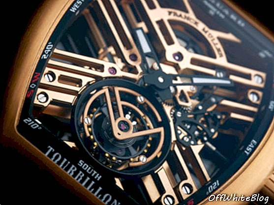 Franck Muller Vanguard Tourbillon Скелет отблизо