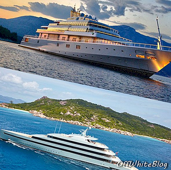 Over: M / Y Rising Sun; Nedenfor: M / Y Savannah