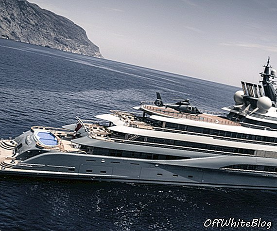 Flying Fox ، 136m Lurssen Megayacht ، ينضم إلى عرض Monaco Yacht