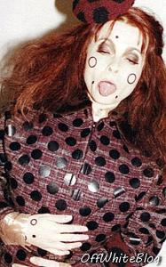Helena Bonham Carter modeller for Marc Jacobs - mote